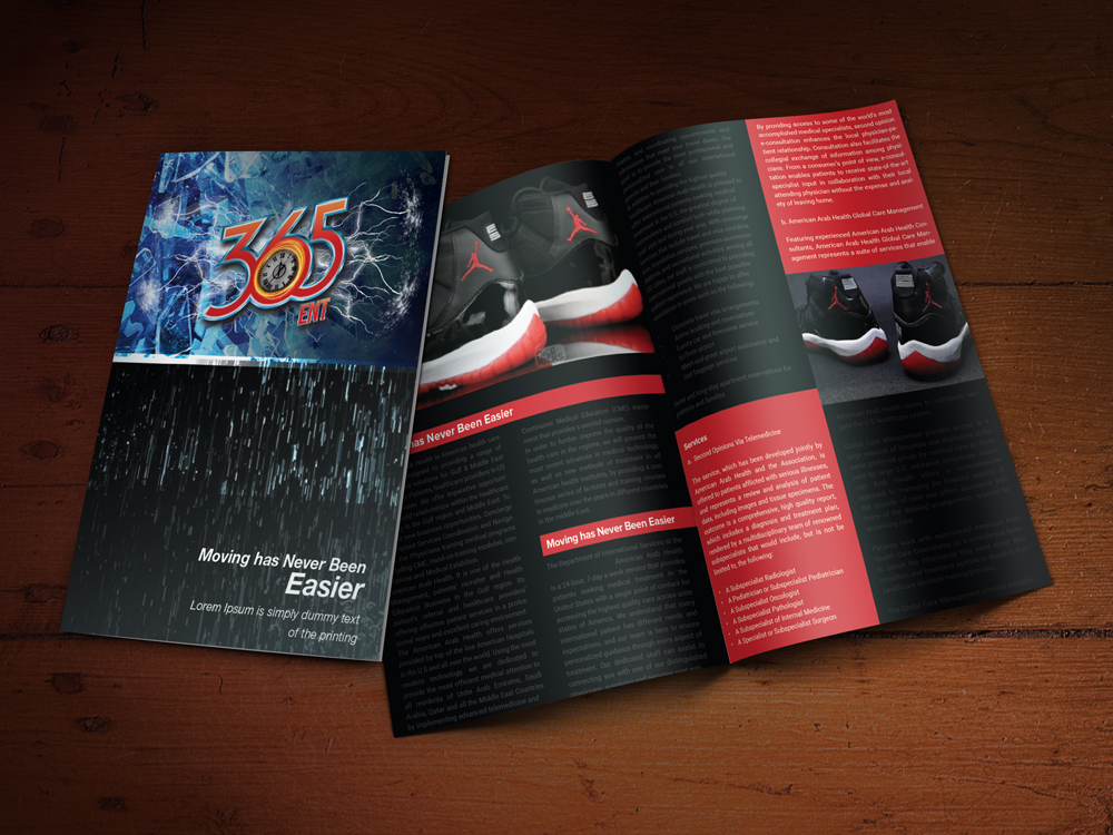 Custom Brochure Design for 365 ENT