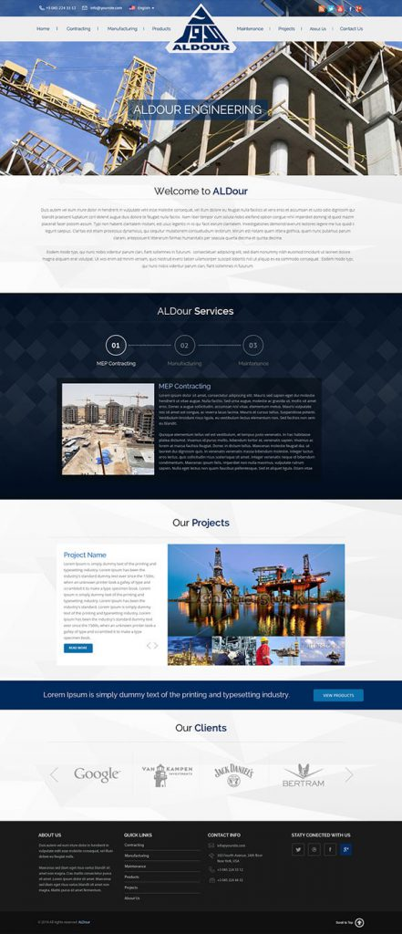 Custom Website Design for AlDour