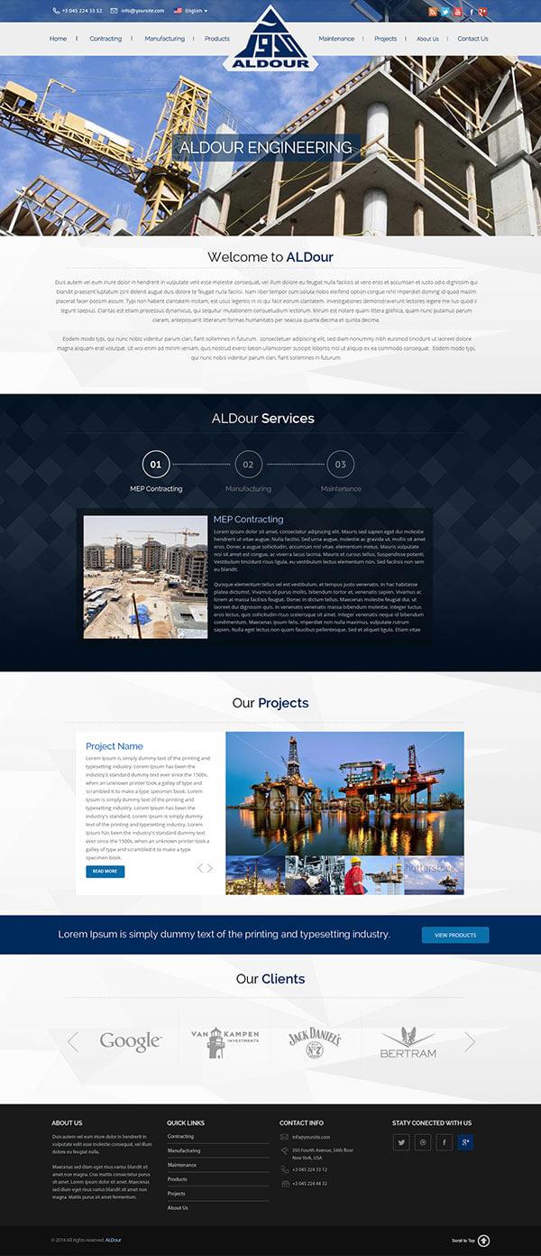Custom Website Design for AlDour - Logo Design Deck