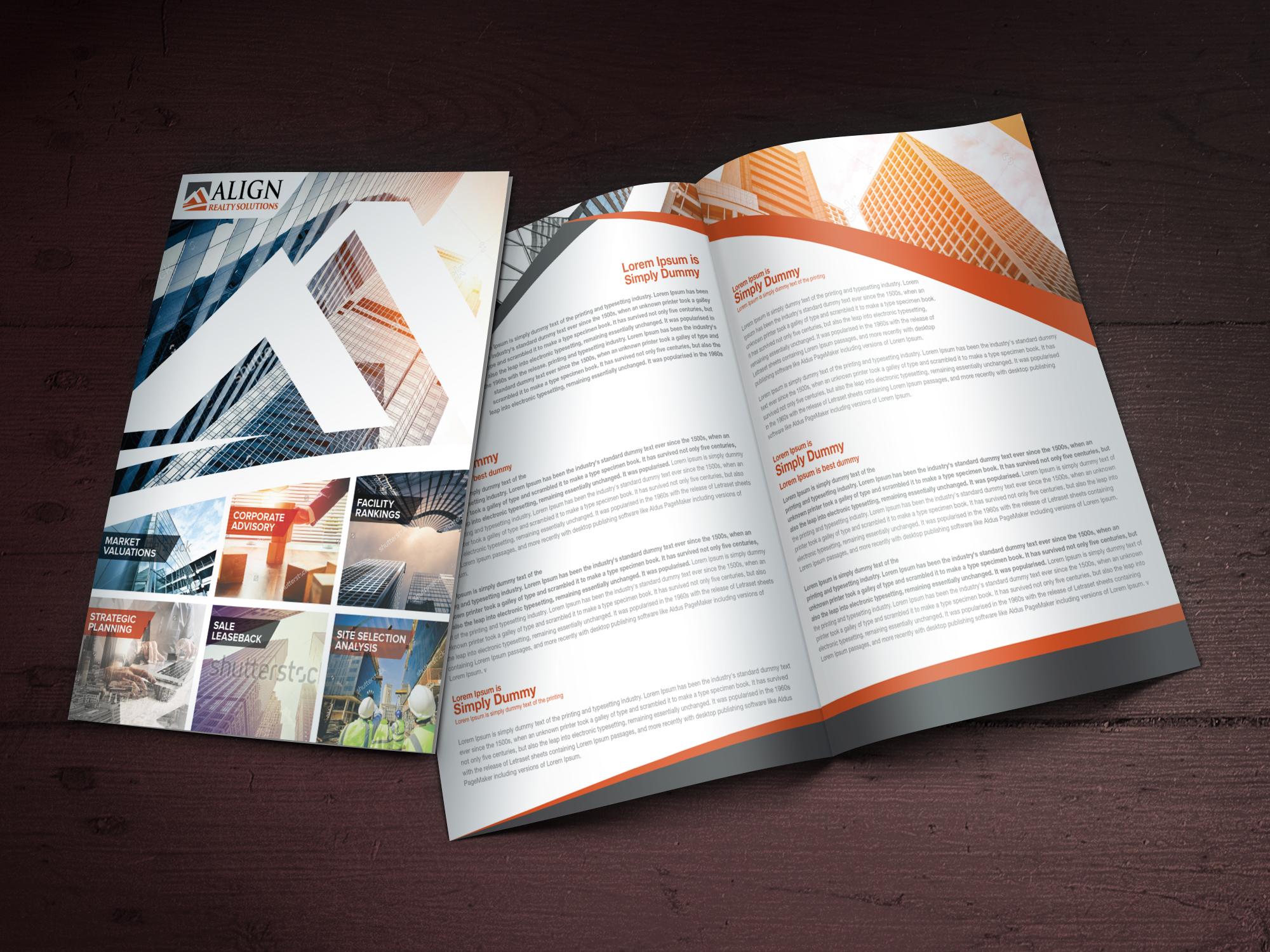 Custom Brochure Design for Align Reality Solutions - Logo Design Deck