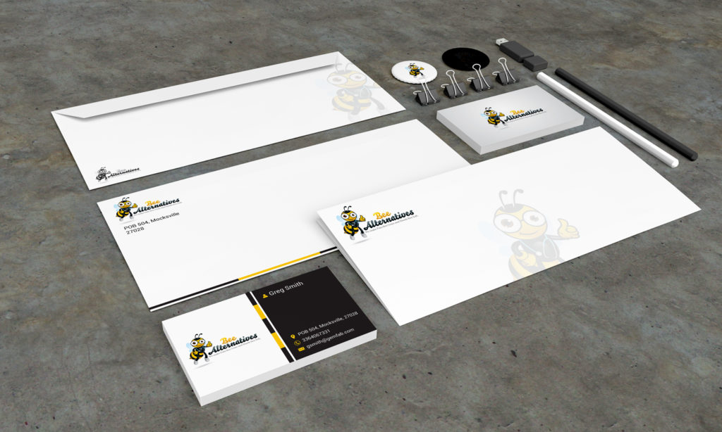 Stationery Design Template for Bee Alternatives