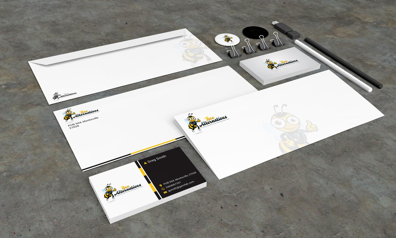 Stationery Design Template for Bee Alternatives - Logo Design Deck