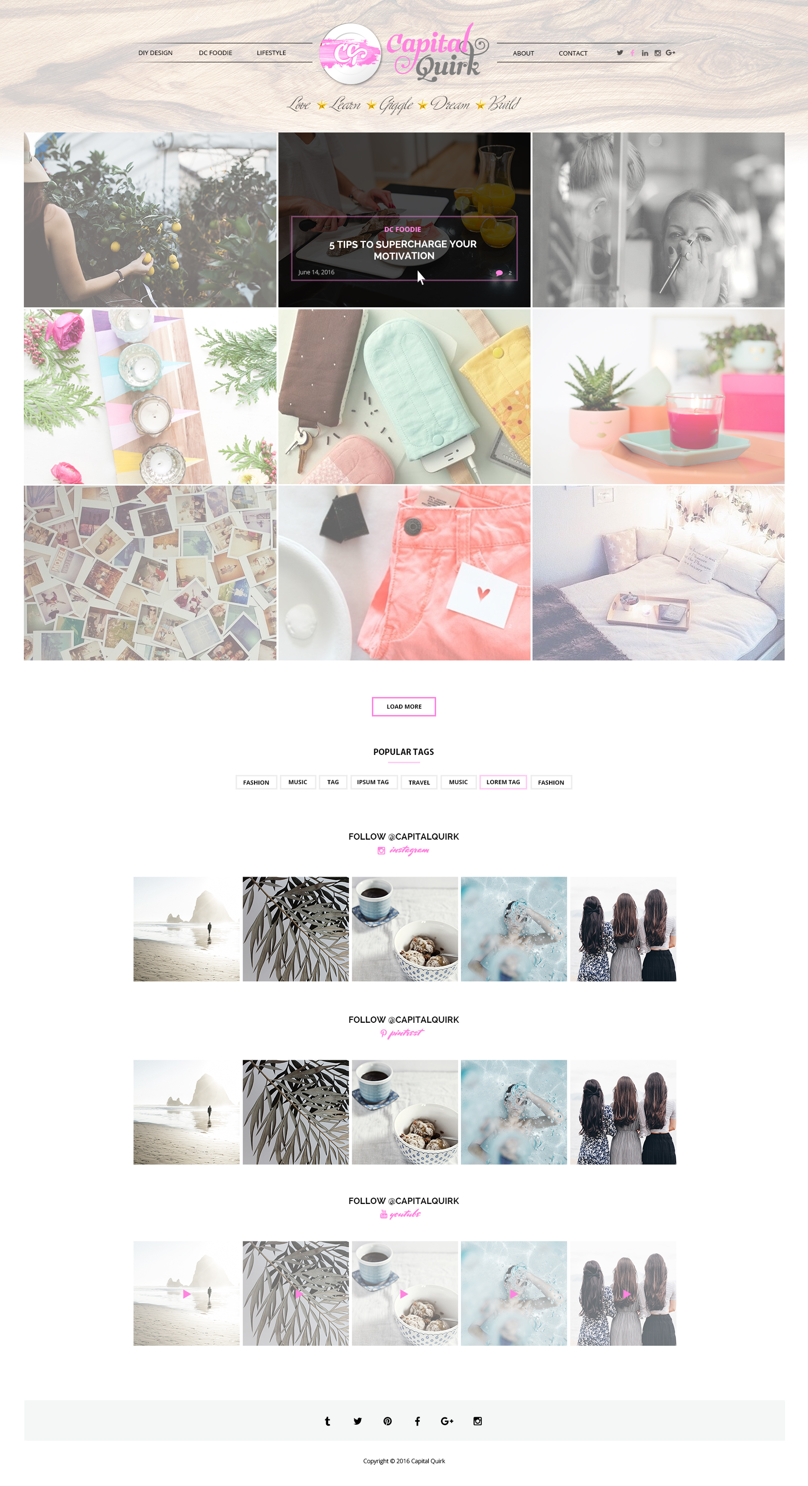 Custom Website Design for Capital Quirk - Logo Design Deck