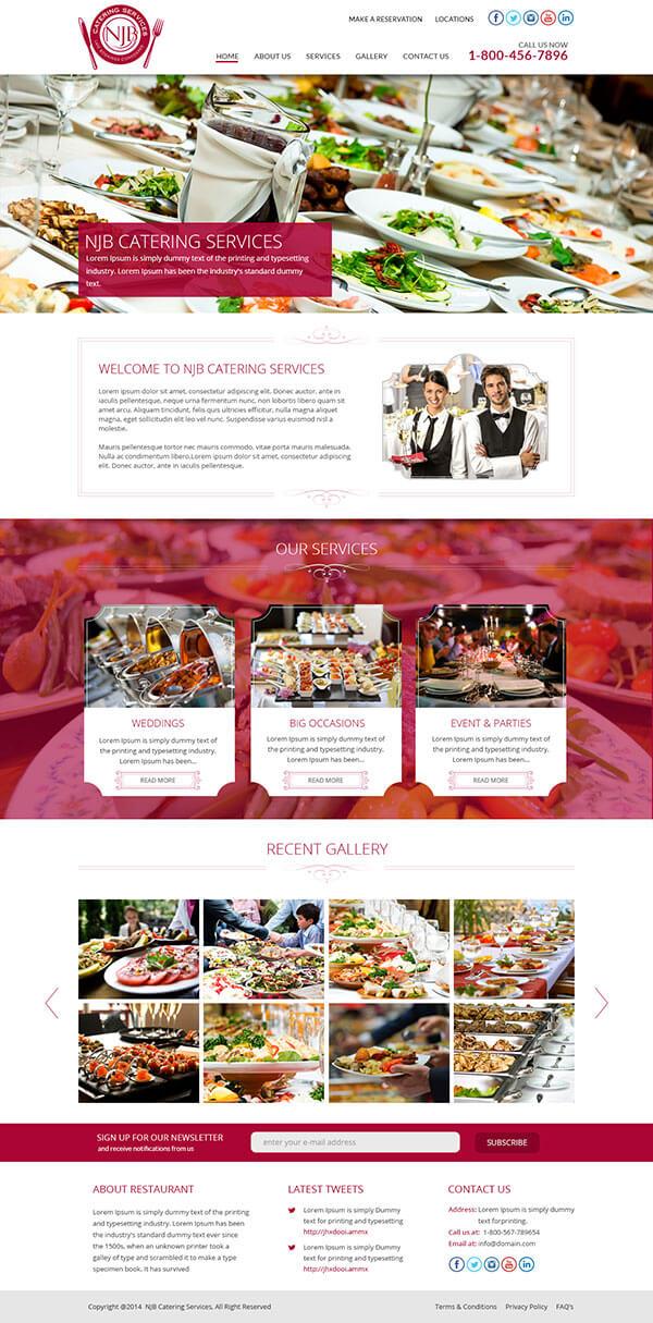 Custom Website Design for Cateking Services - Logo Design Deck
