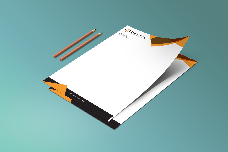 Letterhead design for Delphi - Logo Design Deck