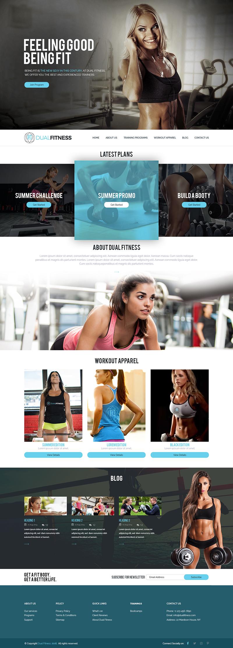 Custom Website Design for Dual Fitness - Logo Design Deck
