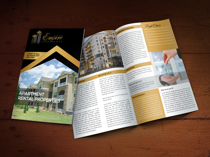 Custom Brochure Design for Empire Apartments