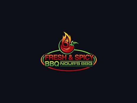 Custom Logo Design for Fresh & Spicy BBQ