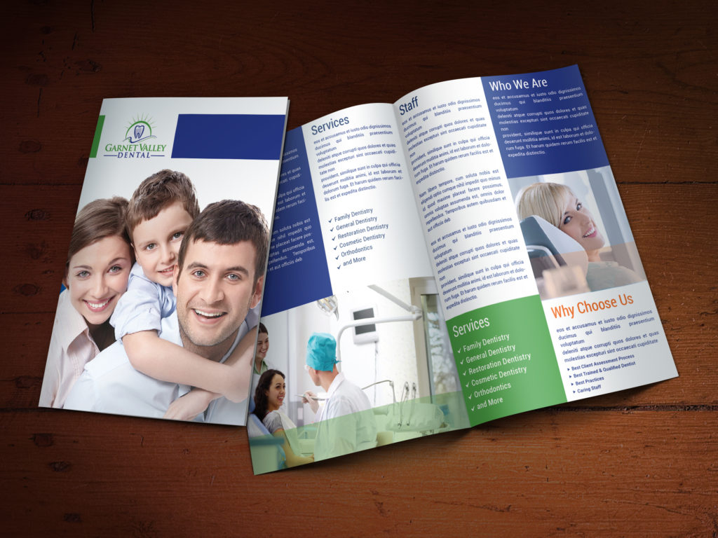 Custom Brochure Design for Garnet Valley Dental