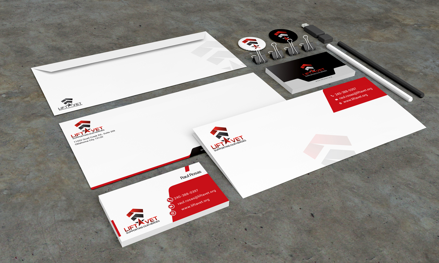 Stationery Design Template for Lift Vet - Logo Design Deck