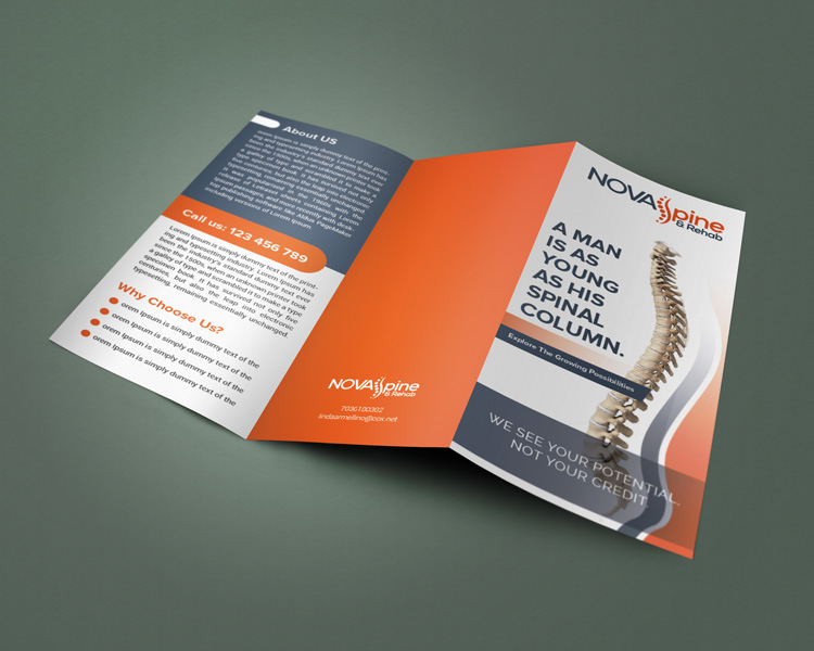 Custom Brochure Design for Nova Spine & Rehab