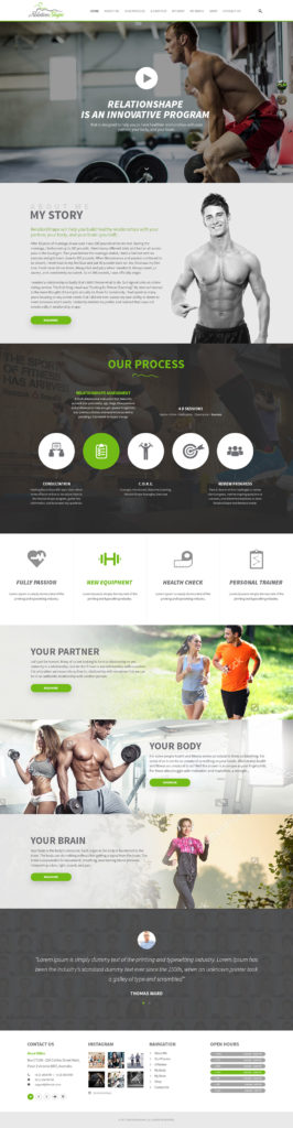 Custom Website Design for Relation Shape