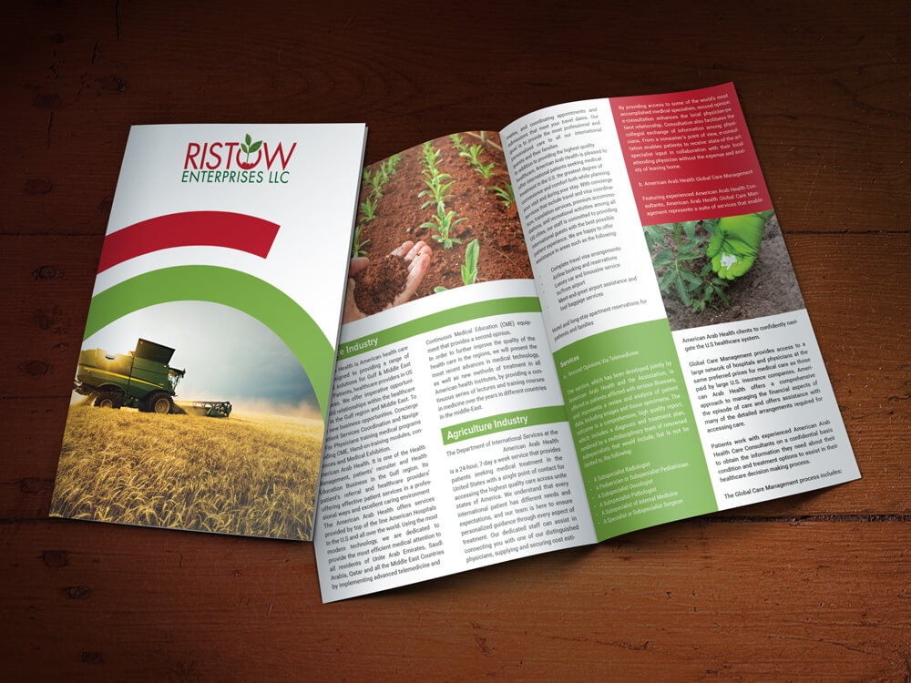 Custom Brochure Design for Ristow Enterprises LLC
