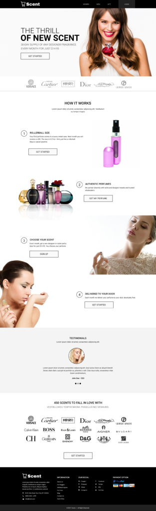 Custom Website Design for Scent