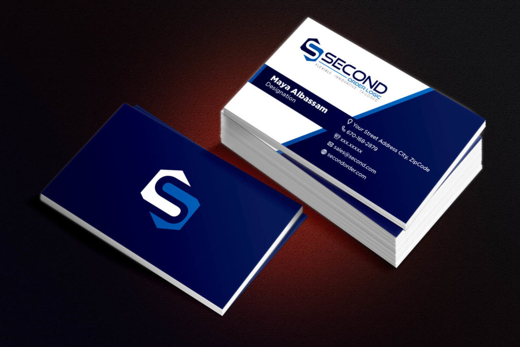 Business Card Design for Second Order Logic