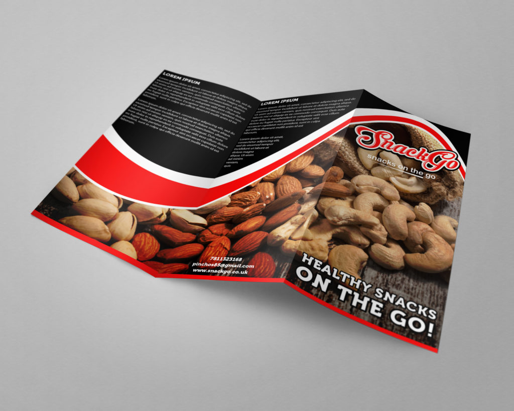 Custom Brochure Design for Snack Go