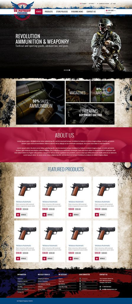 Custom Website Design for US Patriot Firearms