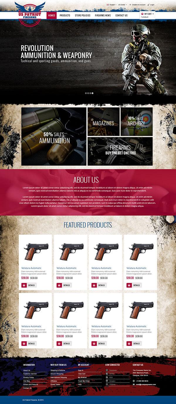 US Patriot Firearms - Logo Design Deck