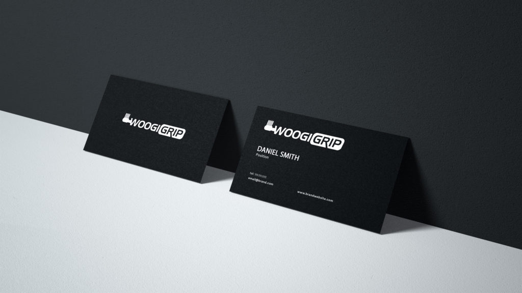 Business Card Design for Woogi Grip